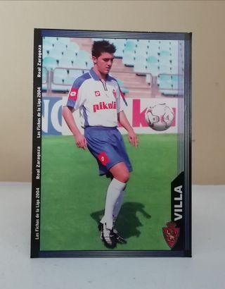 DAVID VILLA #499 ROOKIE CARD MUNDICROMO LIGA 2003