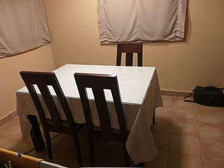 mesa comedor de madera maziza mas cristal