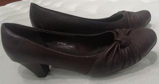 zapatos señora marrones
