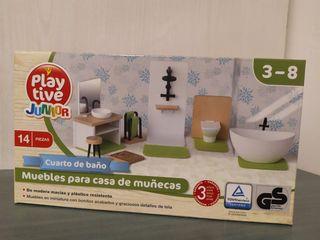 Muebles baño para casa de muñecas