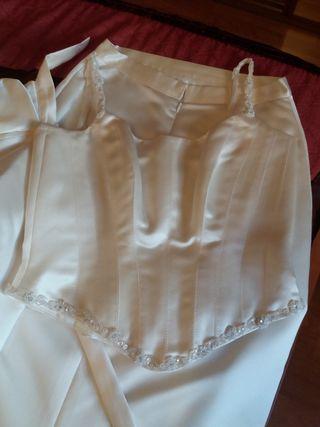 traje de novia talla mediana 38-40