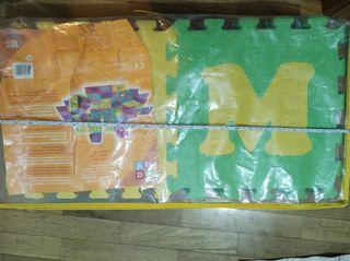 Alfombra 26 piezas Foam letras y números