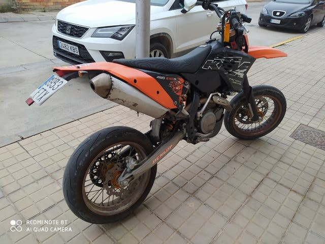 ktm exc 450 supermotard enduro