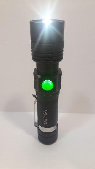 LINTERNA LED RECARGABLE USB MULTIUSO DE MANO