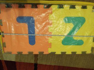 Alfombra 36 piezas Foam letras y números