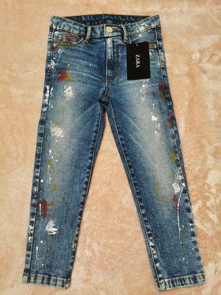 pantalón vaquero elastizado niñ@, ZARA NUEVO!!