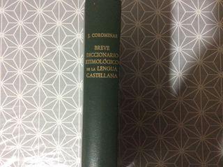 Breve diccionario etimológico lengua castellana J.