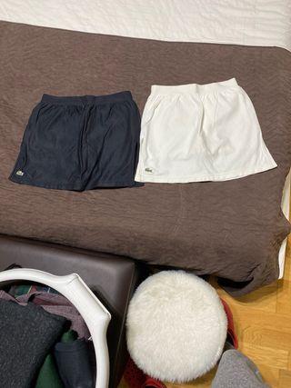 falda lacoste talla xs y s