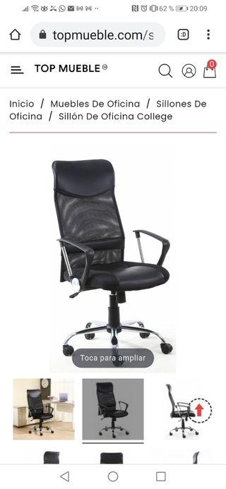 sillón giratorio hidráulico