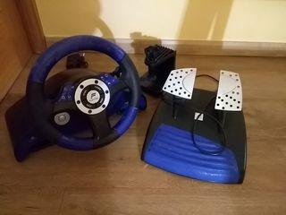Volante y pedales de PS3