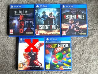 PS4 Games Resident Evil Origins 2 3 Fruit Ninja VR