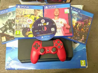 PS4 Slim 5 Games Red Controller Playstation 4 Game