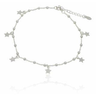 tobillera estrellas/bola plata 1°ley 925