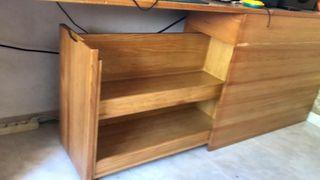 Cama doble+escritorio+estanteria