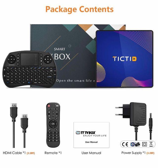 TV BOX con mini teclado touchpad y mando. HDMI inc
