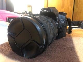 Canon EOS 70D con SD 8GB, caja y protector