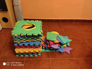 Alfombra niños goma Eva puzzle