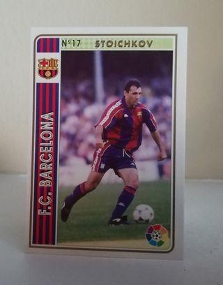 STOICHKOV #17 F. C. BARCELONA FICHAS LIGA 1994/95