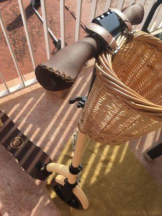 Patinete Scooter Urbano Vainilla RETRO + cesta