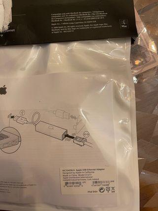 Adaptador Ethernet USB de Apple, adaptador de red
