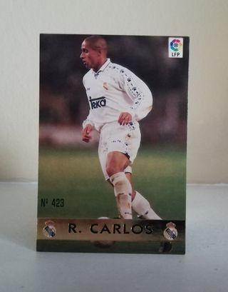 ROBERTO CARLOS #423 REAL MADRID FICHAS LIGA 96/97