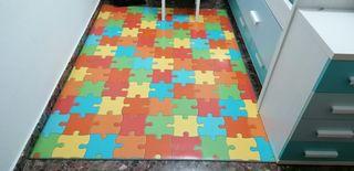 Alfombra vinilica puzzle 140 x 200