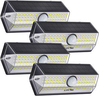 4 luces solares jardin de 100 led