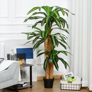 Planta Artificial Decorativa Dracaena con Maceta Á