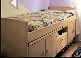 Cama Nido 90, 2 escritorio, armario, LEE TODO