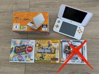 New Nintendo 2DS XL + 2 juegos