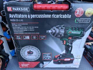 Atornillador impacto recargable Parkside 20V 4ah