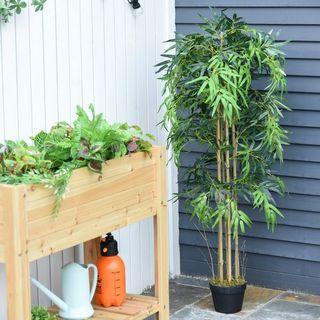 Bambú Artificial 150cm con Maceta Árbol Planta Sin