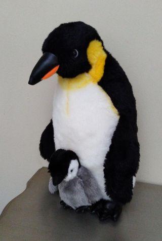 pingüinos de peluche 33 cm