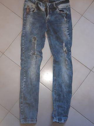 pantalon vaquero pitillo sh elastico