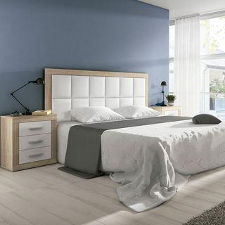Dormitorio cambria y blanco