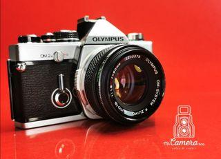 cámara analógica olympus om2n cromada vintage