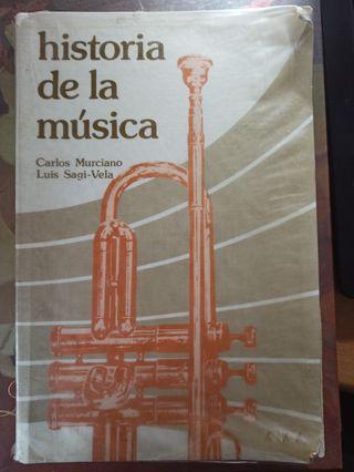 Libro HISTORIA DE LA MÚSICA, Murciano y Sagi