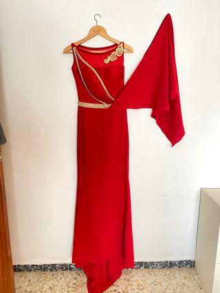 Vestido de fiesta color rojo muy bonito