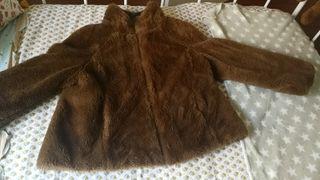 abrigo corto pelo marrón mujer talla M