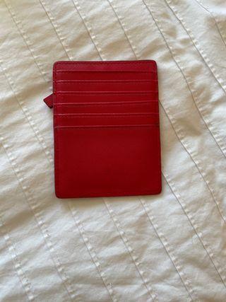 Tarjetero monedero rojo Mango