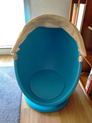 Divertida Silla sillón giratorio de IKEA