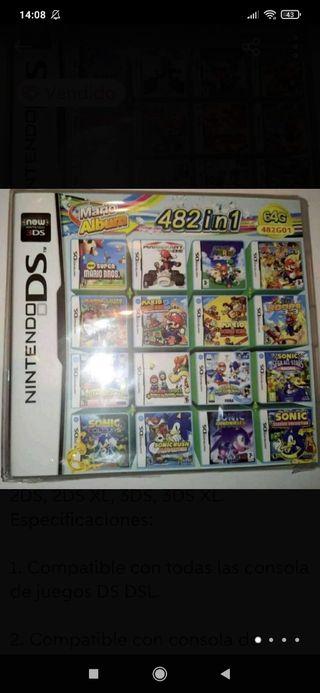 Nuevo Cartucho Nintendo con 482 juegos