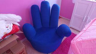 Sillon giratorio diseño mano azul perfecto estado