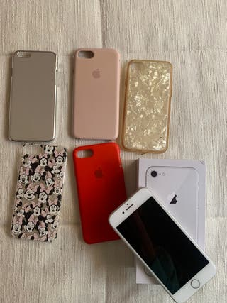 Iphone 8 Blanco 64GB + Fundas