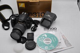 Nikon D3100 14,2MP obj 18-55 DX VR con 3495 fotos