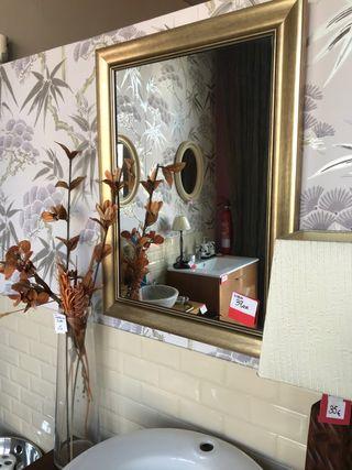 Espejo oro envejecido de 70x60 cm