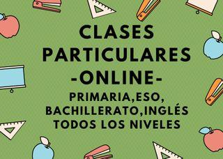 CLASES PARTICULARES ONLINE TODAS LAS ASIGNATURAS
