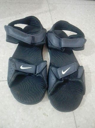 sandalias azul nike