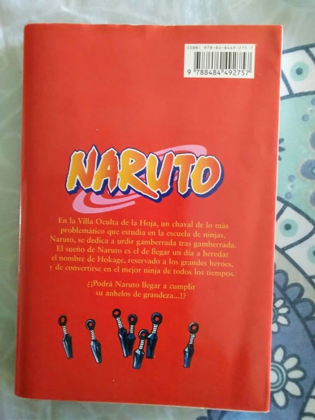 Libro Naruto n° 1. Cómic manga-anime.