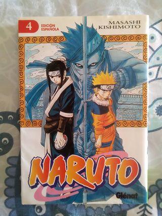 Libro Naruto n° 4. Cómic manga-anime.